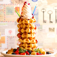 ★ワッフルケーキタワー★いつもと一味違ったお祝いに♪迫力満点のタワーケーキ!