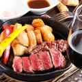 料理メニュー写真エゾ鹿肉のステーキ(100g)