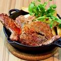 料理メニュー写真オーストラリア産牛肩ロースの鉄板ステーキ 120g