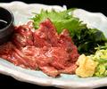 料理メニュー写真特上赤身の馬刺し(あるときあります!)