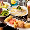 自慢の串揚げは50円(税別)~多種ご用意♪ご宴会コースでもご提供しております!※写真はイメージです