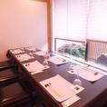 【和モダン半個室】8名まで利用可能なタイプの半個室。