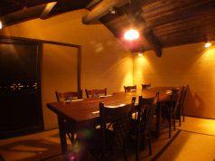 テーブル席個室。雰囲気はそのままで8名までの少人数で楽しめます♪