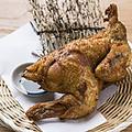 料理メニュー写真丸鶏半身の素揚げ