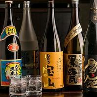 地鶏料理に欠かせない日本酒や焼酎を多数用意しました♪