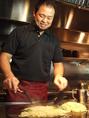 ホテルの元料理長が作る本格鉄板焼き&創作料理。一品一品丁寧に作り上げる料理は、料理長の技と心がこもった自信作。是非一度ご賞味下さい♪[広島/流川/宴会/鉄板焼き/誕生日/お好み焼き/女子会/接待/牡蠣/鉄板/歓送迎会]