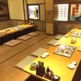 一歩足を入れれば、まるで江戸時代にいるような気持ちに。和の空間が何とも落ち着きます。これからの歓送迎会や会社の宴会などにおすすめ。コースは2時間飲み放題付き3500円~。