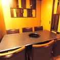 4名様~6名様までのテーブル個室。