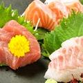 料理メニュー写真新鮮刺身3種盛り合せ