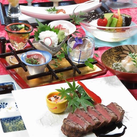 上通りから入ったところにある、熊本和数奇司館 五輪で目と舌で味わう繊細な和食を