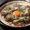 料理メニュー写真トリュフと村上牛の土鍋御飯