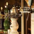 ドラフトビール9種類をご用意。陶器のタワーはまさに圧巻!定期的に入れ替わるゲストビールもお楽しみに!