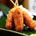 料理メニュー写真【名物】 ぶた福の味噌串カツ (3本)