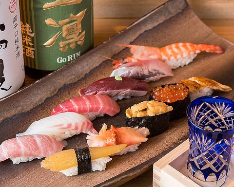 美味しいお寿司と身体に良く優しいものを。女性同士で楽しめるセットメニューが豊富。
