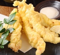 料理メニュー写真柚子塩で食べるせせりの天ぷら