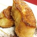 料理メニュー写真ぱりぱりフレンチトースト バニラアイスクリーム添え