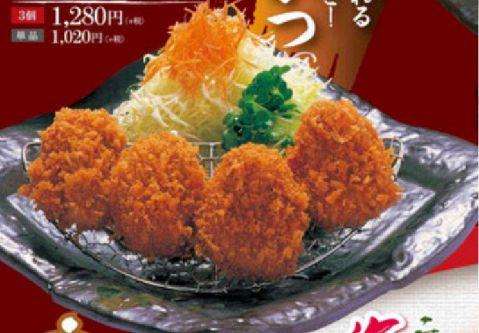 ヒレかつ定食(中/4個)