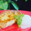 料理メニュー写真絶品!フレンチトースト(バニラアイス添え)