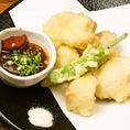 もつは「もつ鍋」でしか調理しないと思っているそこのあなた!「勇馬」ではもつを「天ぷら」した「もつ天」もご用意!他店ではなかなか味わえないおすすめの逸品のひとつです!