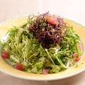 料理メニュー写真名物アヒポキのサラダ ハワイ式