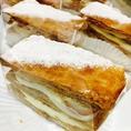 『いちごのミルフィーユ』さくさくのパイ生地に十番館オリジナルのカスタードクリームとイチゴをサンド!人気すぎて午前中には完売!!