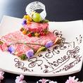 【肉好きなあの人にサプライズ・・】肉ケーキで宴会を盛り上げよう☆歓送迎会・記念日・誕生日etc・・誕生日や記念日など大切なお祝いのお客様にピッタリなお肉の盛り合わせです♪お好きなメッセージも入れられるので、お祝いの言葉はもちろん、普段伝えにくい「いつもありがとう」のメッセージなども承っております!