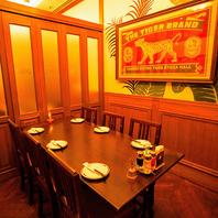 会食や合コンなどにもお勧めな個室もご用意。