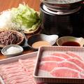 料理メニュー写真◆めんつゆで黒豚しゃぶしゃぶ(一人前)