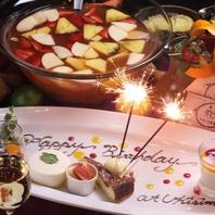 誕生日・記念日・サプライズにプレートサービス☆