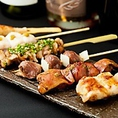 迷った時はコレ!おまかせ松介串焼セット(6本):松介特製ねり・ささみ・砂ずり・せせり・ボン尻・もも