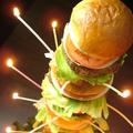 料理メニュー写真ロングバーガー(お好きなバーガーを積み上げてご提供!)