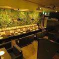 壁面緑化のお席は最大22名様までお座りいただけます。