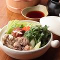 料理メニュー写真白湯スープで地鶏の水炊き(一人前)