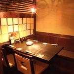 サク飲みや、少人数でのご宴会に最適な完全個室は2名様~50名様までOK!
