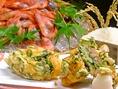 日本海の新鮮魚介!なめらかな甘さ【南蛮海老】をかき揚げで…