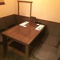 小上がりの半個室は掘りごたつとなっております。接待や仲間内でのお食事にもピッタリ☆ご予約必須のお席となりますので、お早めにご連絡くださいませ。