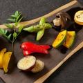 料理メニュー写真焼き野菜のアンチョビディップ