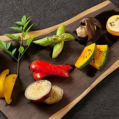 焼き野菜のアンチョビディップ