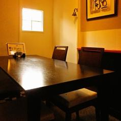 半個室テーブル席です。ご予約推奨