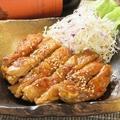 料理メニュー写真とりもも肉のソテー(塩orタレ)