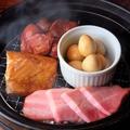 料理メニュー写真各種薫製盛り 2種盛りは100円引き、3種盛りは300円引き。