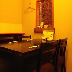 4名掛けテーブル席です。