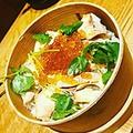 料理メニュー写真秋鮭といくら、魚沼キノコの炊き込みご飯