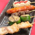 料理メニュー写真串盛り5種