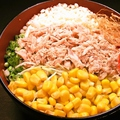 料理メニュー写真ベーコンと卵/ツナコーン/しゃきっとツナ玉葱/ベーコン/コンビーフ