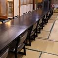 一の矢ではテーブル席での宴会も可能なお部屋をご用意してます☆テーブルでのご宴会は最大60人まで可能!一の矢では様々なシーンに合わせて宴会できるお部屋を多数ご用意しています◎