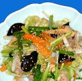料理メニュー写真季節野菜の黒酢炒め