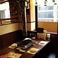 8人でもゆったり座れるテーブル席もございます。開放的な店内で気ままにお食事をお楽しみください。