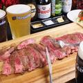 料理メニュー写真国産黒毛和牛 サーロインステーキ(300g) -岩塩・マスタード・タルタルソース添え-