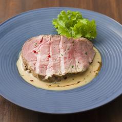 料理メニュー写真68℃の豚ロース ポン酢バターソース